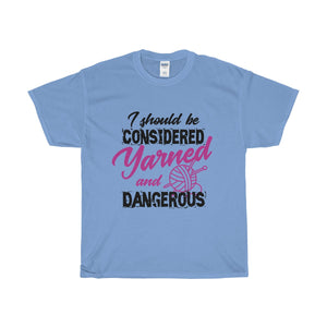 I Should Be Considered Yarned and Dangerous Unisex Heavy Cotton Tee