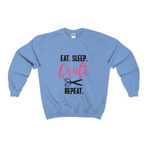 Eat.Sleep.Craft.Repeat Unisex Heavy Blend™ Crewneck Sweatshirt