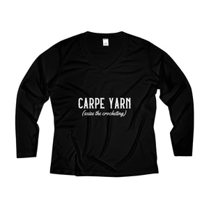 Carpe Yarn Women's Long Sleeve Performance V-neck Tee