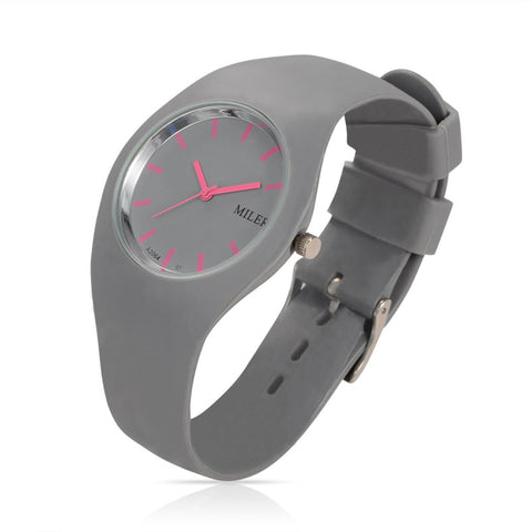 Women Silicone Band Sport Watch Fashion Brand MILER Colorful Quartz Bracelets