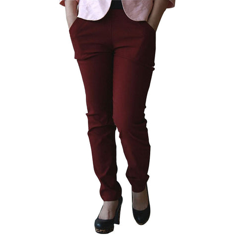 Women Pants High Waist Elastic Pants Ladies Long Pants Casual Trousers