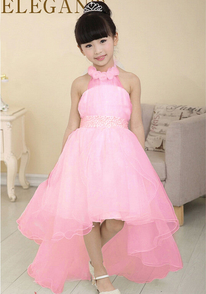 2017 New Summer Baby Girls Party Dress Evening Wear Long Tail ...