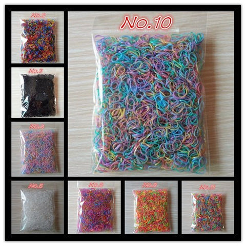 1000pcs/bag (small package) 2017 New Rubber Bands Elastics for Girl's