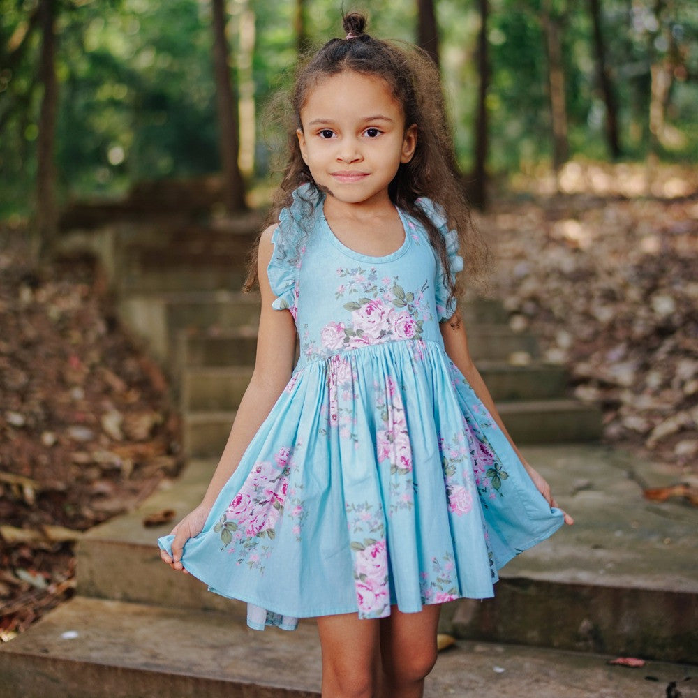 2018 Baby Girls Dress Summer Beach Style Floral Print Party Backless ...
