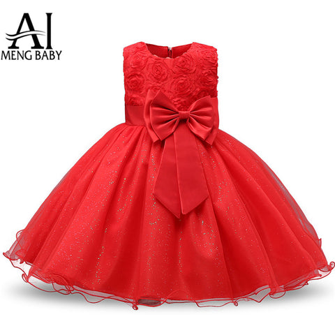 2018 Baby Red Pretty Dress For Girls