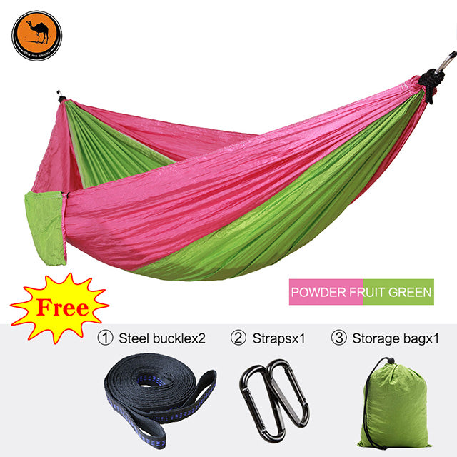 Furniture High Strength Outdoor Hammock Tree Portable Parachute Sleeping Swings Backpacking Hiking Woven Camping Furniture Travel Swing