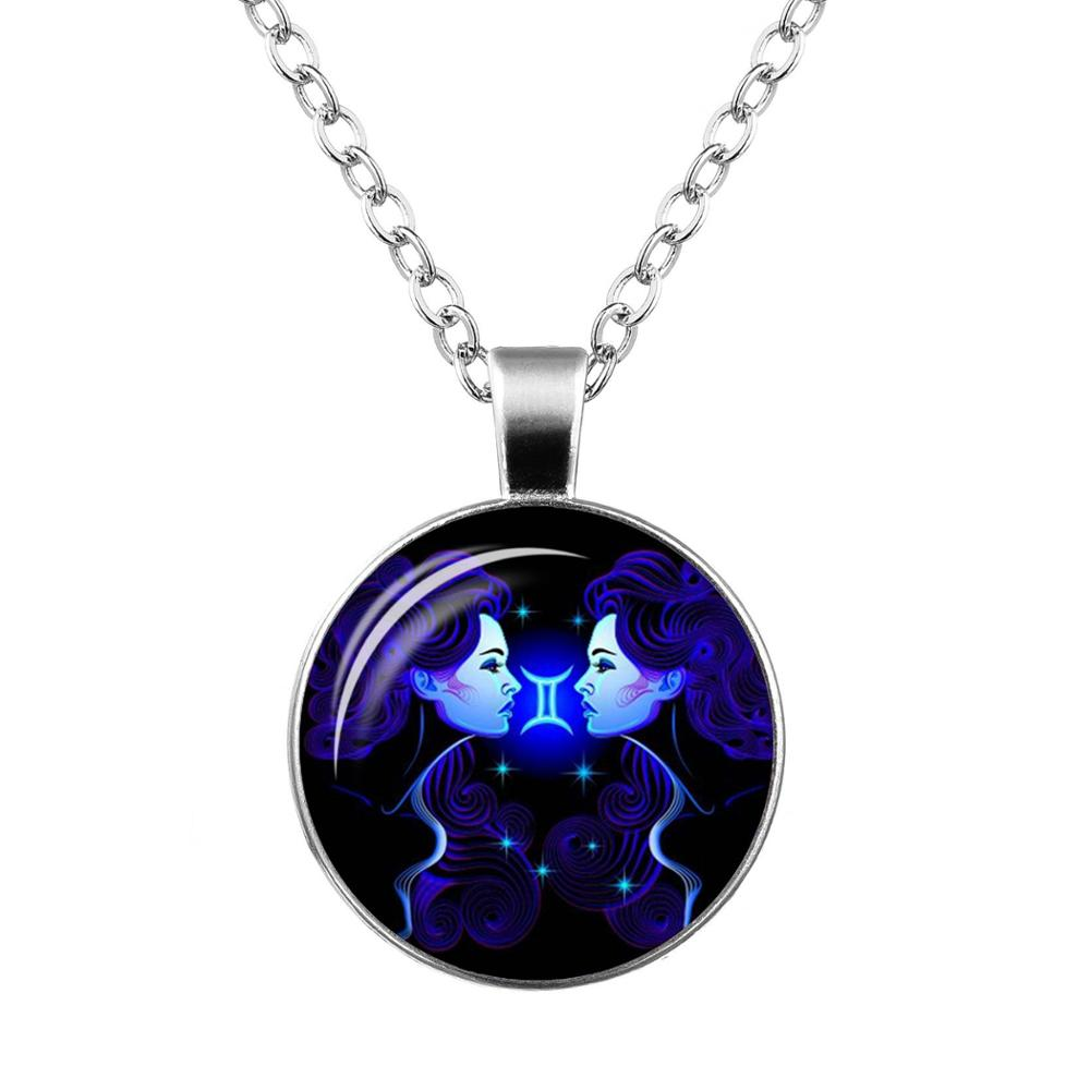 New trendy women pendant necklace galaxy design for 12 zodiac new trendy women pendant necklace galaxy design for 12 zodiac horoscope signs aloadofball Choice Image