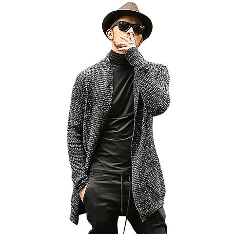 Mens Sweater Long Sleeve Cardigan Males Pull style Thick warm Mohair Sweaters