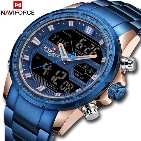 2019 NAVIFORCE Fashionable Men Watches Military Waterproof LED Digital Sport
