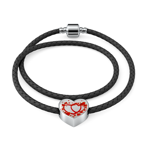 US Made Red Double Heart Charm Bracelet high quality shatterproof glass - Free Shipping today