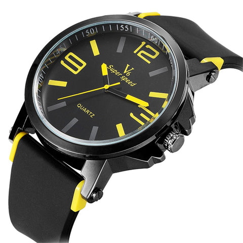 New arrival V6 brand men and women fashion high quality quartz wrist watches