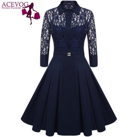 Women Vintage Pleated Dress Autumn Retro Style 2 Pieces Dress