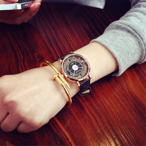 2018 Neutral Fashion Unique Hollow Watch Stylish Double Hollow Elegant Casual wrist watch