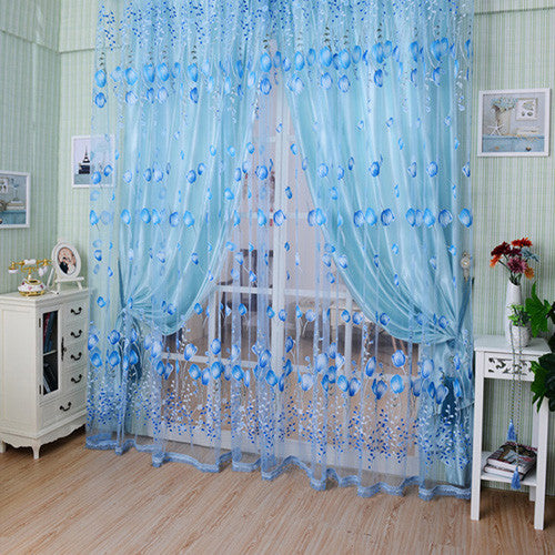 3D Window Curtains fabric rideaux rideau Tulle Sheer Curtains for ...