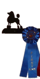 Showoff Ribbon Rack - Poodle - Wall Rack
