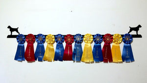 Showoff Ribbon Rack - German Wire Haired Pointer - Wall Rack