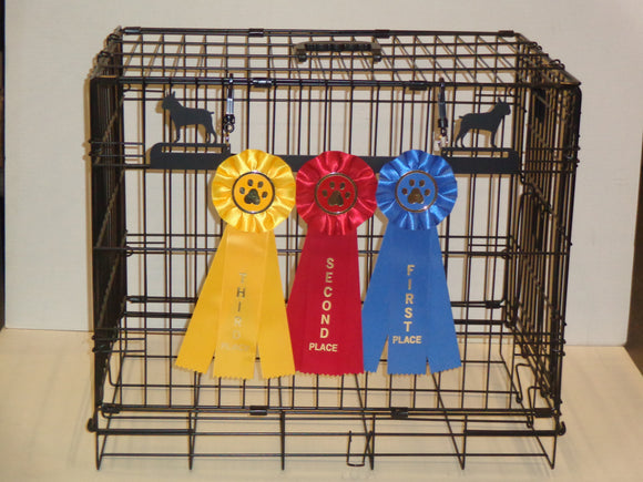 Showoff Ribbon Rack - Boston Terrier - Kennel Rack