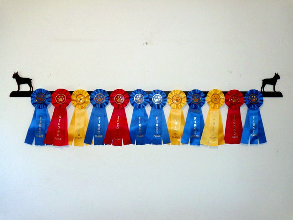Showoff Ribbon Rack - Boston Terrier - Wall Rack
