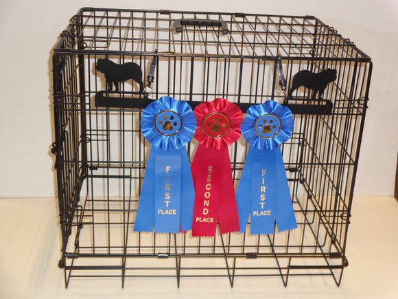 Showoff Ribbon Rack - Bulldog - Kennel Rack