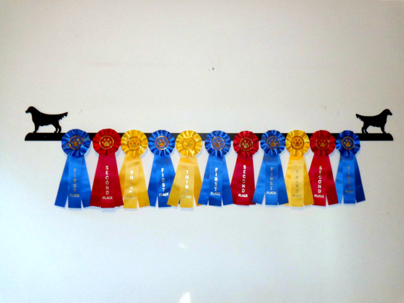 Showoff Ribbon Rack - Golden Retriever - Wall Rack