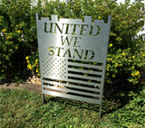 United We Stand Patriotic Sign