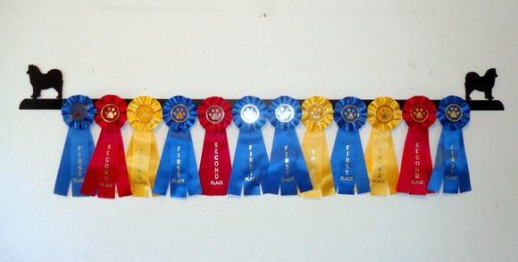 Showoff Ribbon Rack - Samoyed - Wall Rack