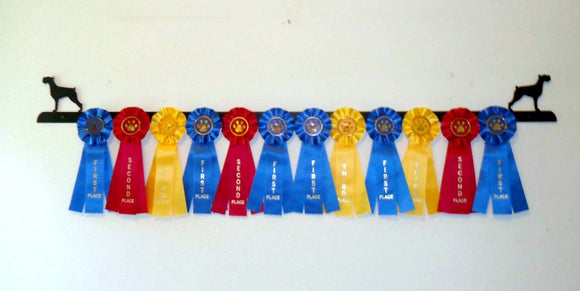 Showoff Ribbon Rack - Schnauzer - Wall Rack