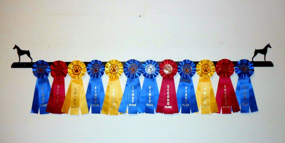 Showoff Ribbon Rack - Doberman - Wall Rack
