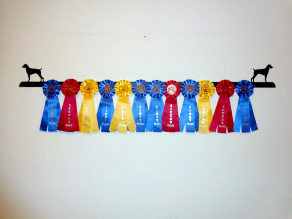 Showoff Ribbon Rack - German Shorthair Pointer - Wall Rack