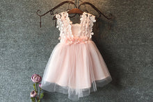lace flower girl dress in pink