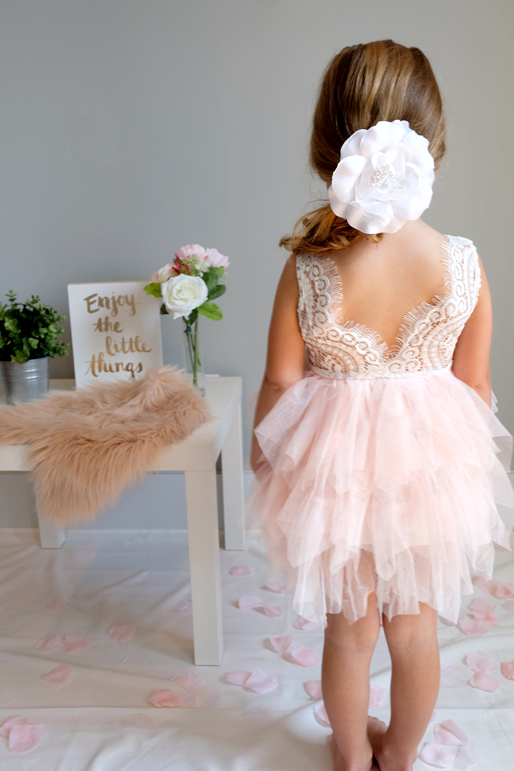 lace tutu flower girl dress