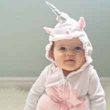 Unicorn Fleece Romper Jumpsuit