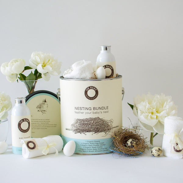 Grande Nesting Bundle  Is Filled to the Brim with our Timeless and Luxurious Baby Goods!