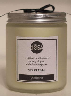 Diamond Soy Scented Candle - dOSA Natural Skin Care Products