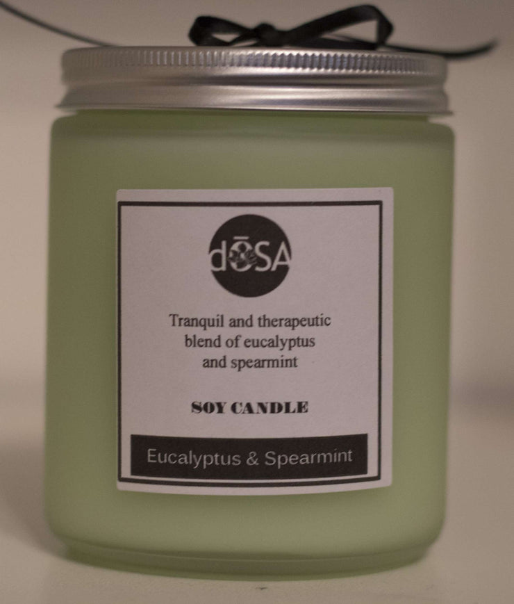 Eucalyptus & Spearmint Soy Scented Candle - dOSA Natural Skin Care Products