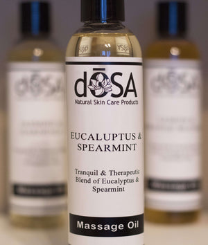Eucalyptus & Spearmint Massage Oil - dOSA Natural Skin Care Products