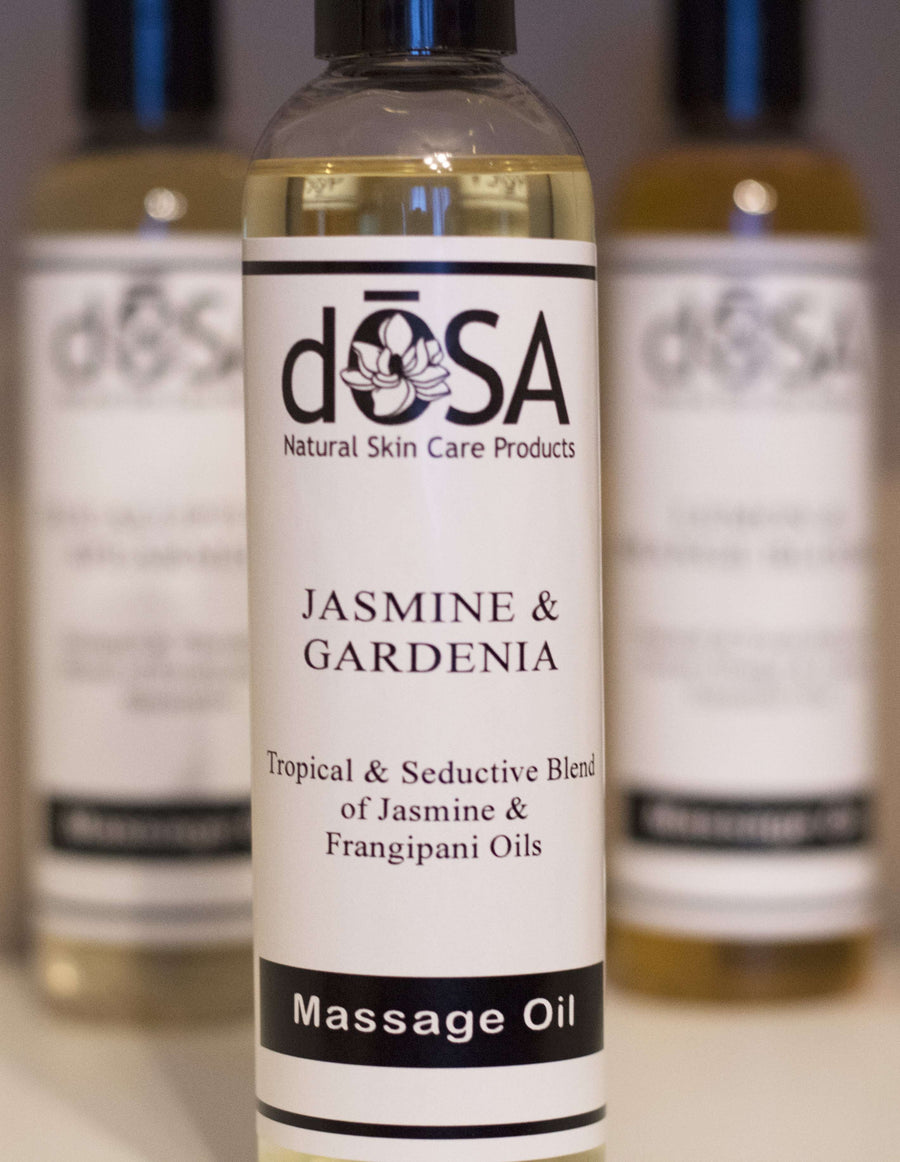 Jasmine & Gardenia Massage Oil - dOSA Natural Skin Care Products