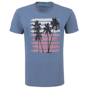 "Ανδρική Μπλούζα T-Shirt ""Long Holidays"" Battery-BLUE-M-kmaroussis.gr"
