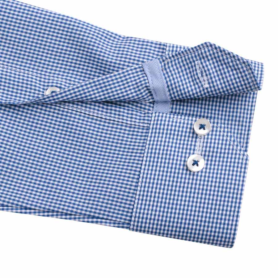"Ανδρικό Πουκάμισο ""Watery"" Slim Fit Redmond-BLUE-S-kmaroussis.gr"
