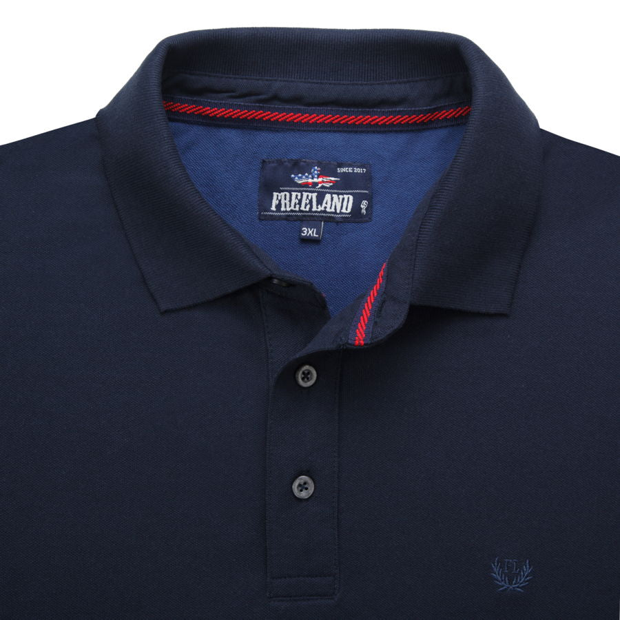 "Ανδρική Μπλούζα Polo ""Confidential"" Freeland-NAVY-M-kmaroussis.gr"