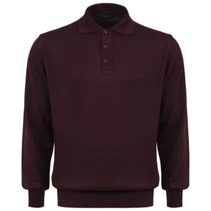 "Ανδρική Πλεκτή Μπλούζα Polo ""Furius"" Unique-BURGUNDY-M-kmaroussis.gr"