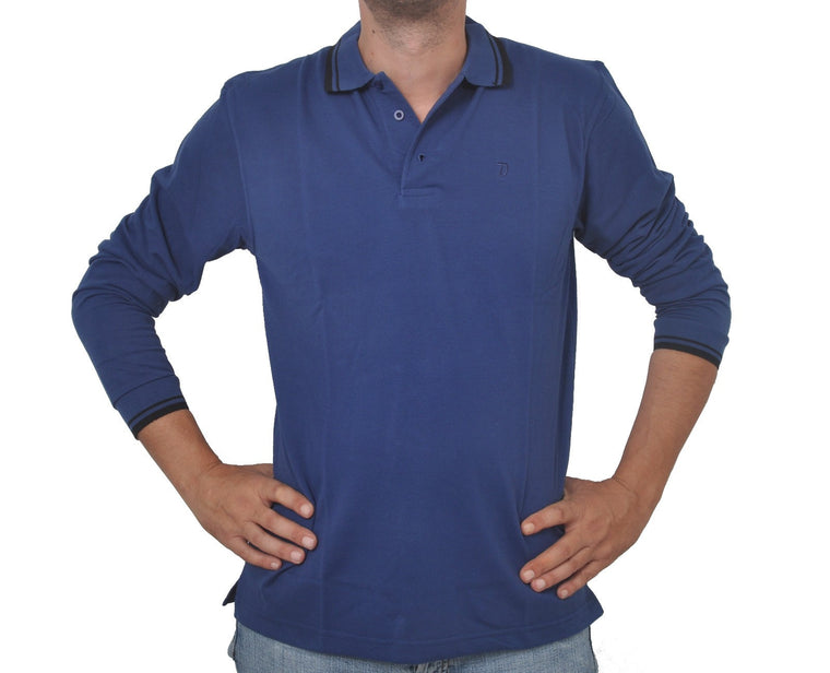 "Ανδρική Μπλούζα Polo ""Everyday Chic"" Double-BLUE-M-kmaroussis.gr"