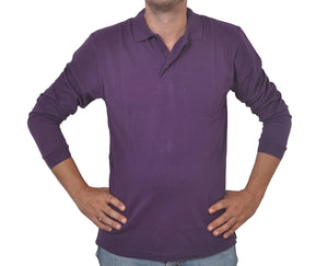 "Ανδρική Μπλούζα Polo ""Everyday Chic"" Double-PURPLE-M-kmaroussis.gr"