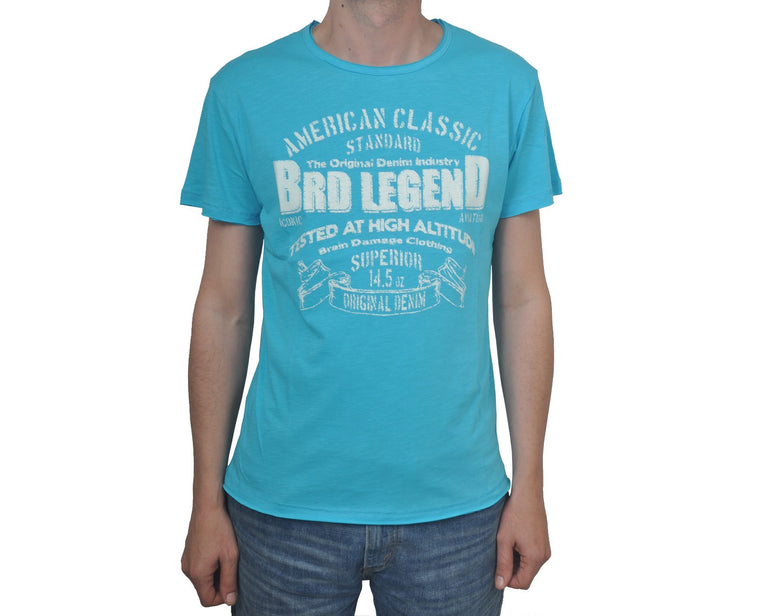 "Ανδρική Μπλούζα T-Shirt ""Legend"" Brain Damage-LIGHTBLUE-S-kmaroussis.gr"