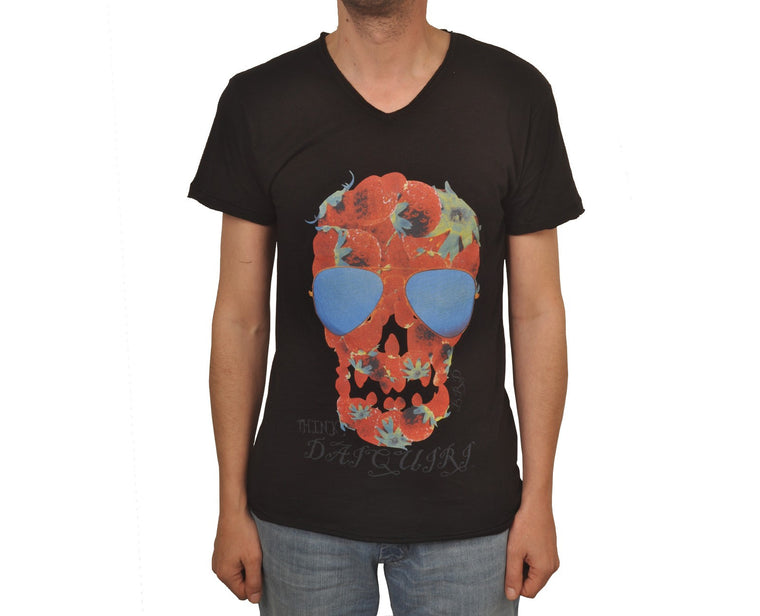"Ανδρική Μπλούζα T-Shirt ""Skull"" Brain Damage-BLACK-M-kmaroussis.gr"