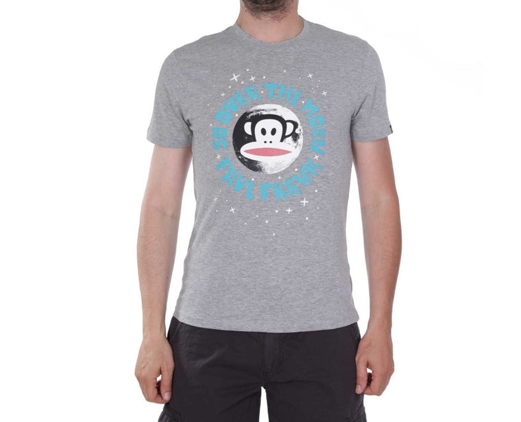 "Ανδρική Μπλούζα T-Shirt ""Moon"" Paul Frank-GRAY-M-kmaroussis.gr"