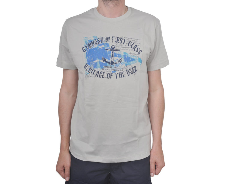 "Ανδρική Μπλούζα T-Shirt ""Anchor"" Catamaran-LIGHTGRAY-XL-kmaroussis.gr"
