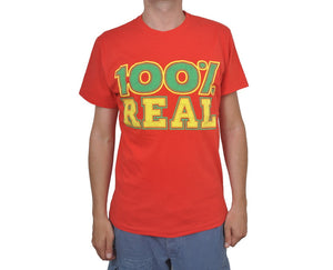 "Ανδρική Μπλούζα T-Shirt ""Real Hundred"" BMF-RED-L-kmaroussis.gr"