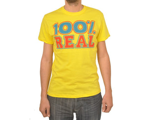 "Ανδρική Μπλούζα T-Shirt ""Real Hundred"" BMF-YELLOW-L-kmaroussis.gr"