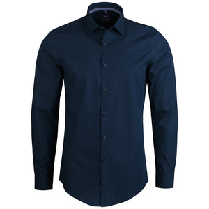 "Ανδρικό Πουκάμισο ""Teriby"" Slim Fit Redmond-DARKBLUE-S-kmaroussis.gr"
